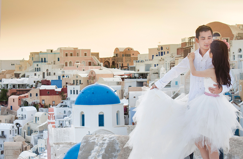 Singapore Wedding Photography in Santorini