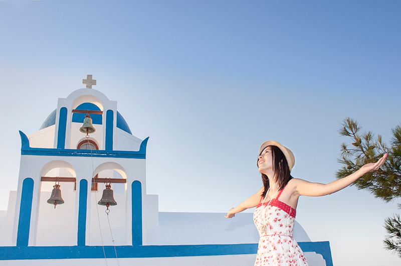 chinese girl honeymoon in greece