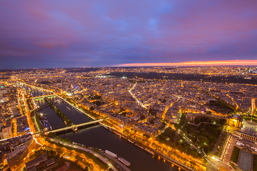 Paris Night view from eiffel tower