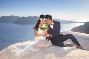 An Amazing Pre-Wedding Journey in Santorini – Alvin and Kiko from Hong Kong