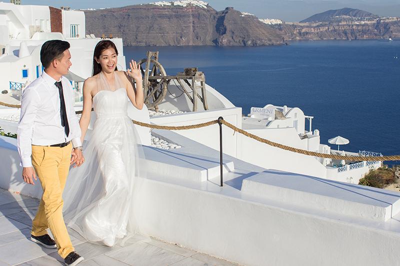 pre wedding oia