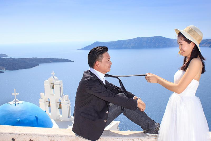 pre wed santorini
