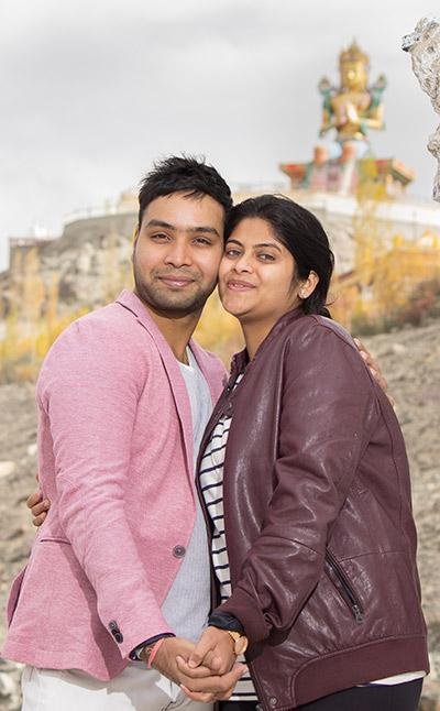modern indian couple honeymoon
