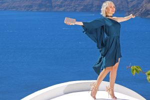 A superb Santorini Trip with an angelic Russian Blogger