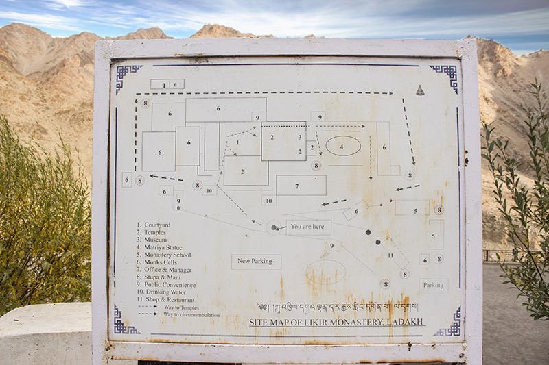site map of likir monastery in lakadh