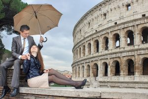 A superb pre-wedding photo shoot in Rome, the city of eternal love