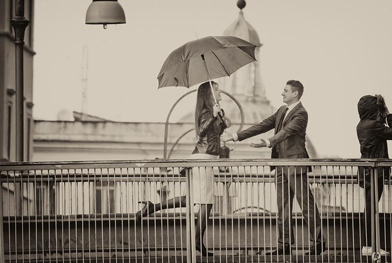 rome black and white photo love