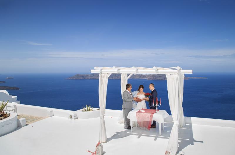 santorini andromeda villas venue wedding