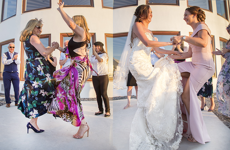 bride guests dancing