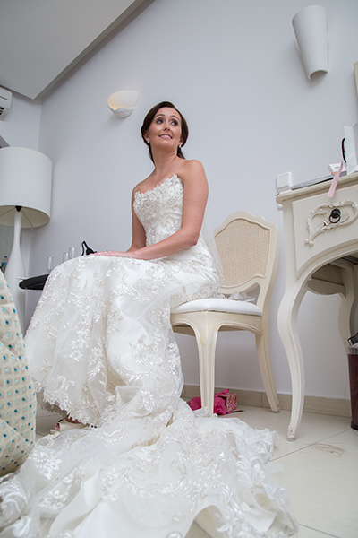 bride sitting chair