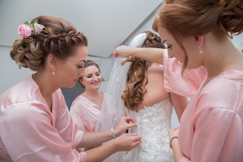 bridesmaids helped bride