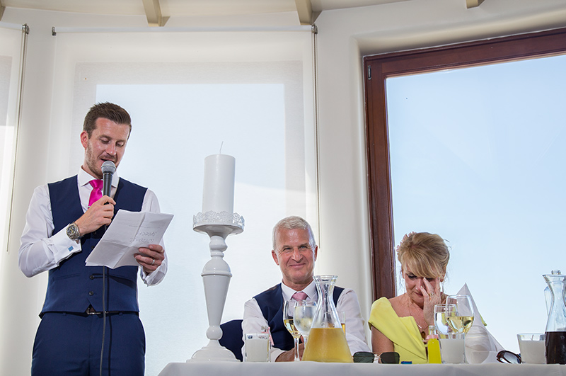 groom's wedding speech unposed