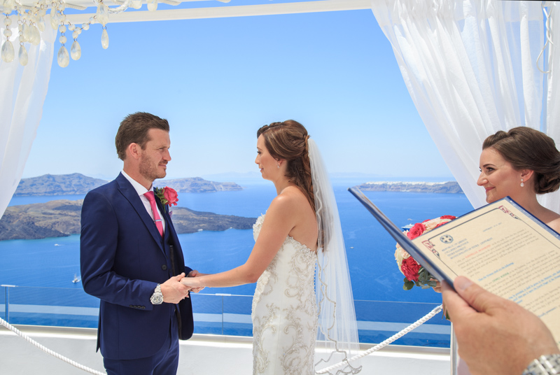 Bride cries when officiant reads vows