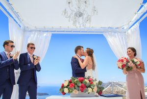 A gem wedding photography in Santorini island