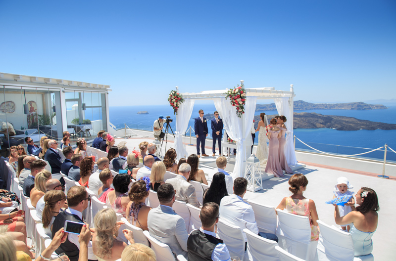 santorini wedding guest chairs