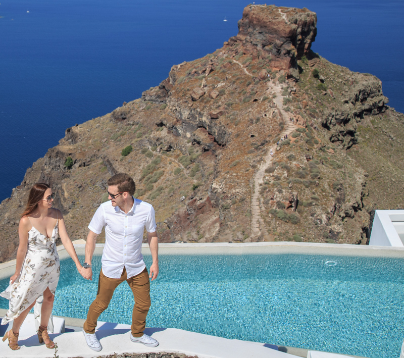 Pre Wedding Engagement Photography in Santorini
