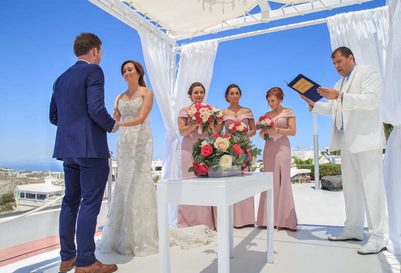 civil wedding ceremony in Greece