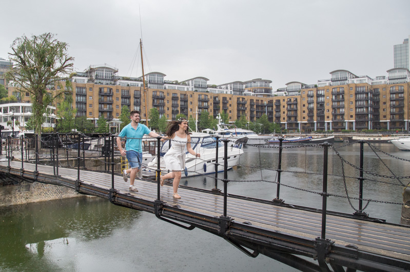 bridge of Limehouse Basin Canalside