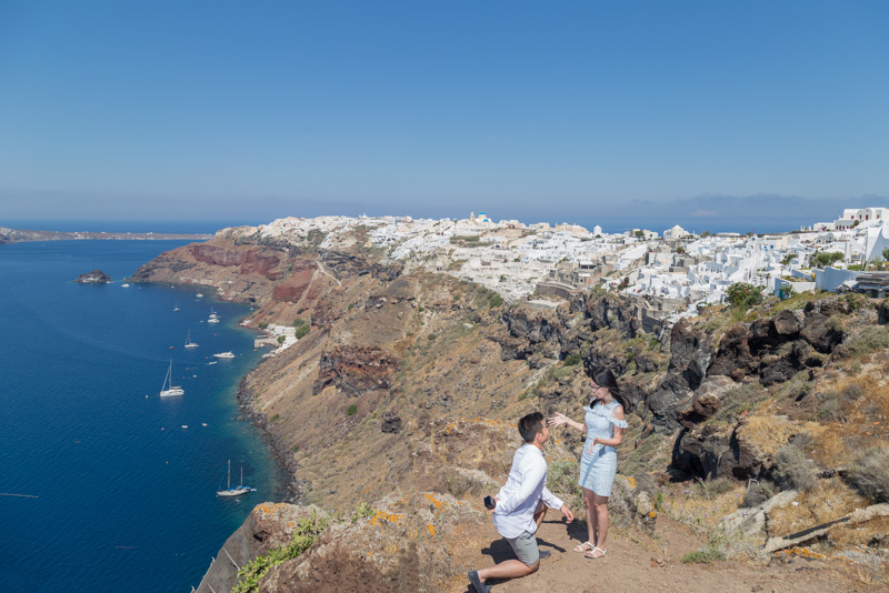 marriage proposal planning greece oia