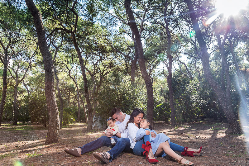 forest family photo shoot posing ideas