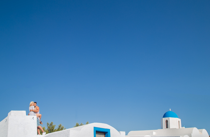 best location for engagement photography in Santorini