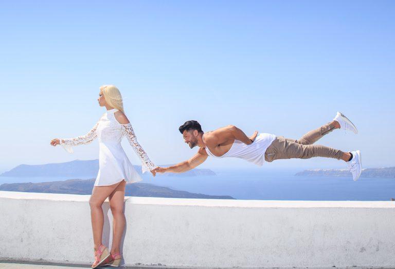 Santorini Engagement Photography