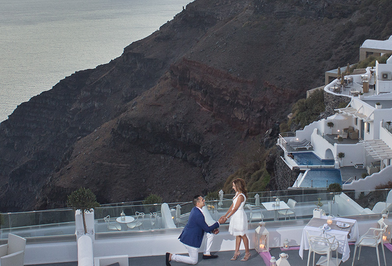 Imerovigli Santorini marriage proposal