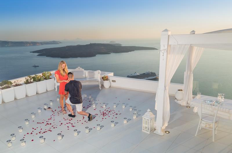 rooftop proposal santorini