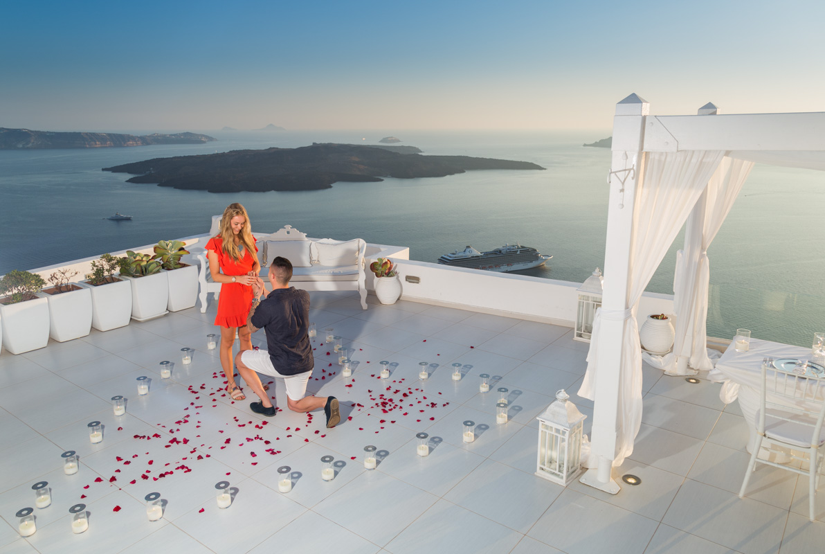 santorini dana villas marriage proposal