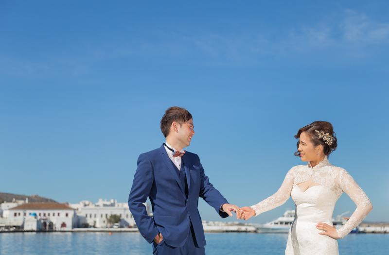 Greece pre wedding photography