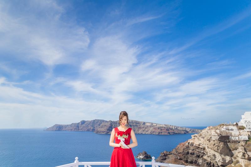 chinese bride santorini red dress