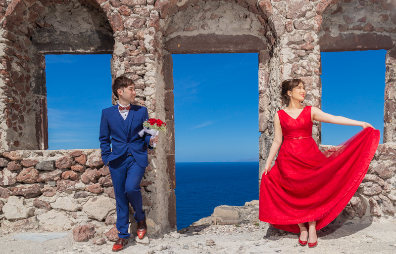 oia castle pre wedding photography