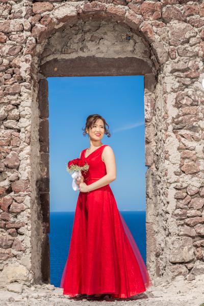 santorini rent dress photography