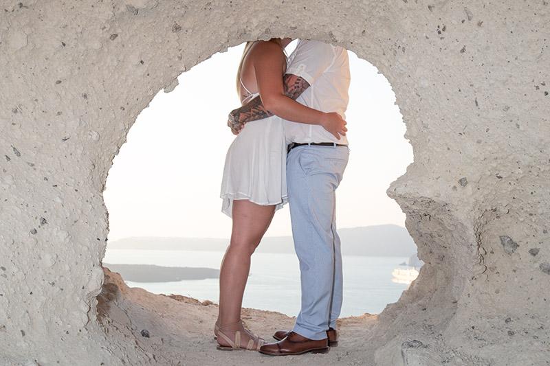 heart rock proposal photoshoot