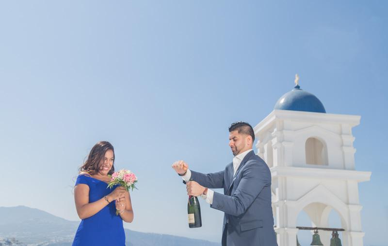 proposal celebration santorini
