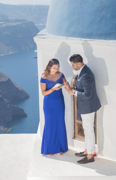 romantic spot propose Santorini