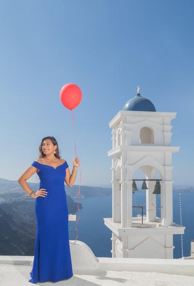 Santorini portrait photoshoot