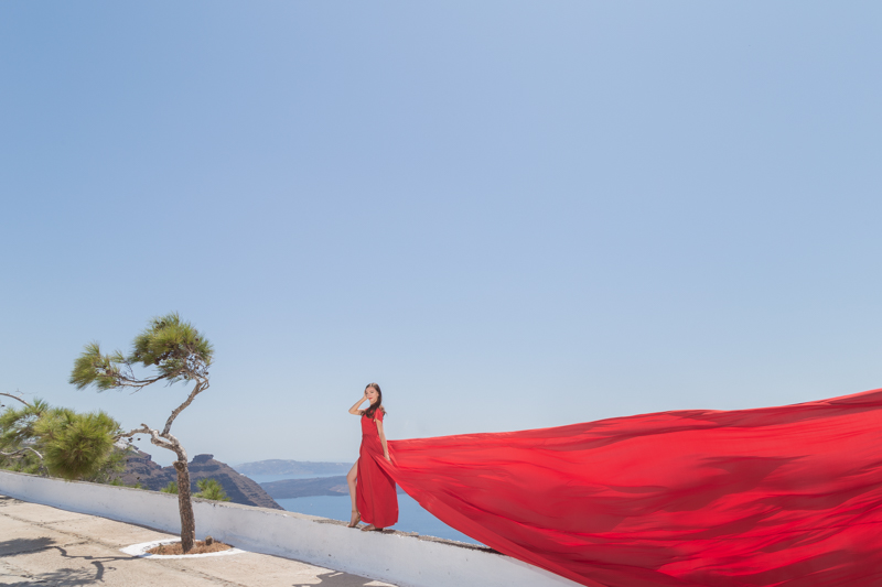 flying dress photography