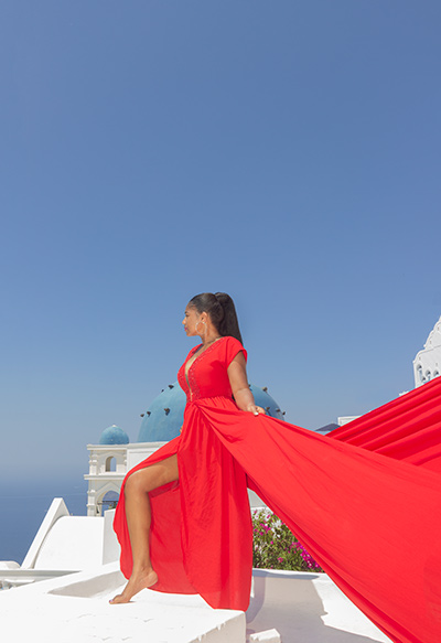 flying dress shoot