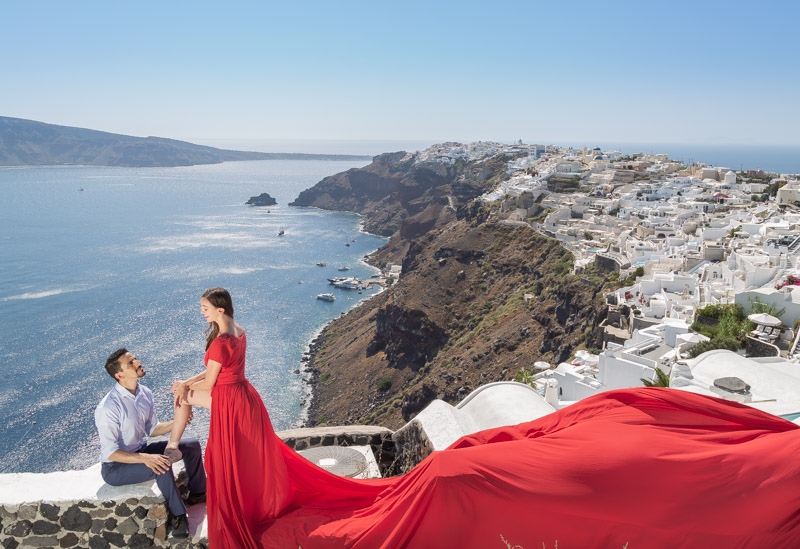 wedding dress rental santorini