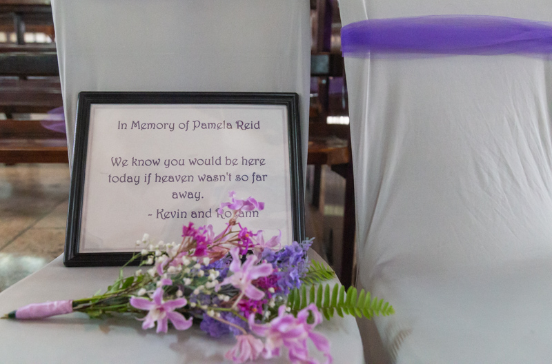 in memory of wedding sign