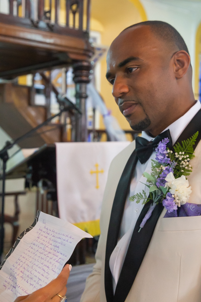 reading vows during ceremony