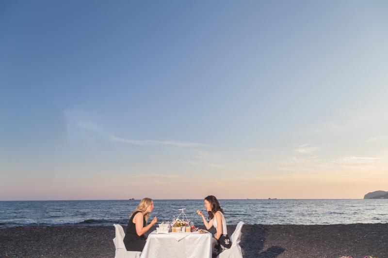 beach dinner sunset gay proposal