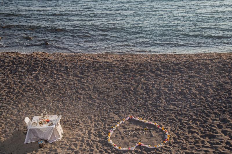 beach proposal ideas greece