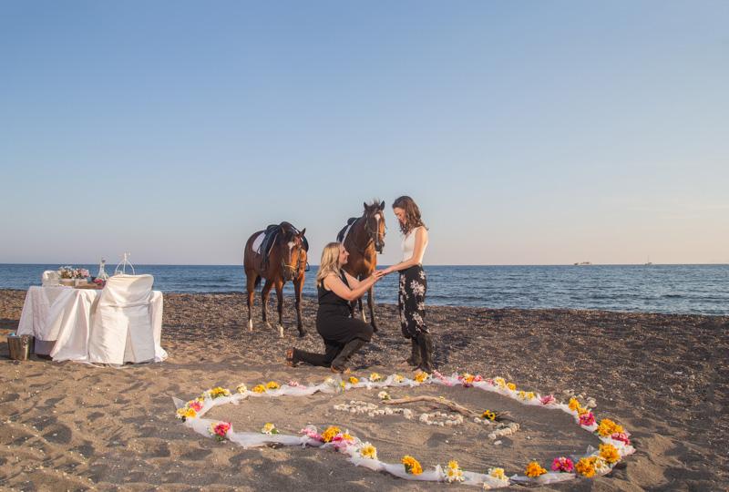 lesbian marriage proposal santorini
