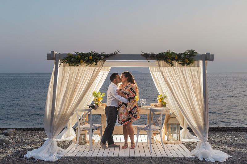 private proposal beach santorini