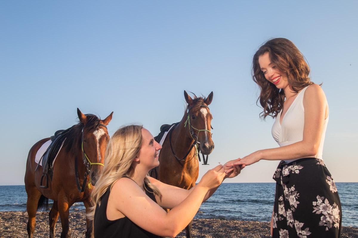 same sex marriage proposal santorini