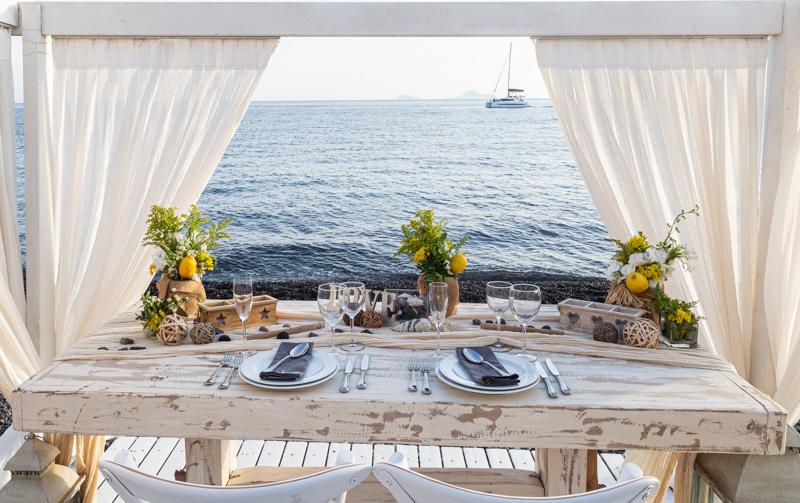 santorini private dining table
