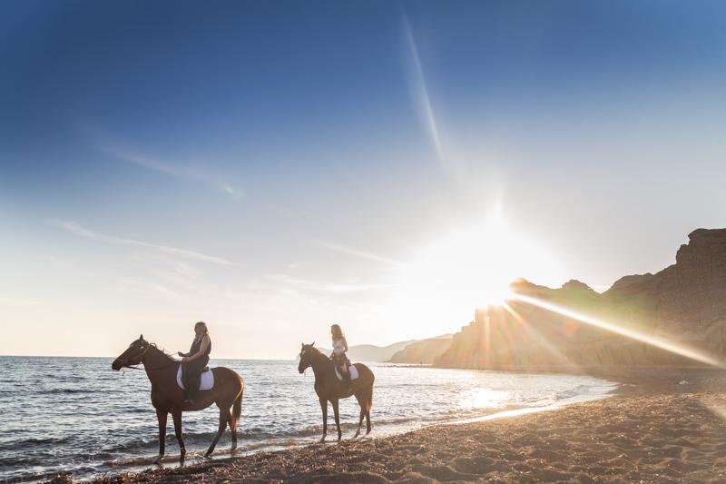 sunset horse riding beach