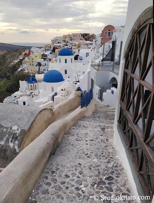santorini blue domed churches coronavirus greece